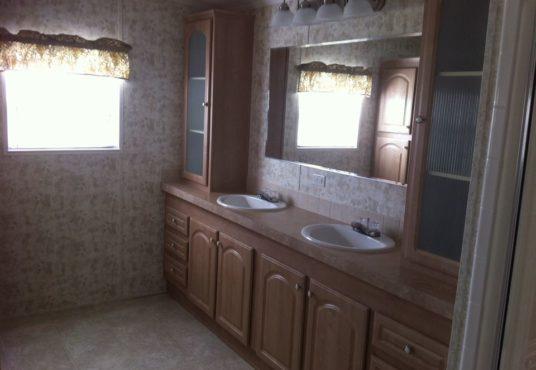 The Islander model bathroom double sink vanity