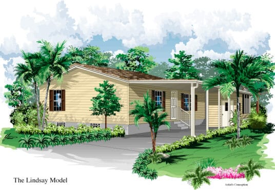 lindsay manufactured home rendered elevation