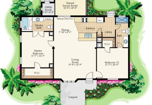 mandy manufactured home rendered floor plan