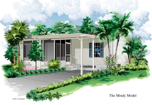 mindi 2 manufactured home rendered elevation