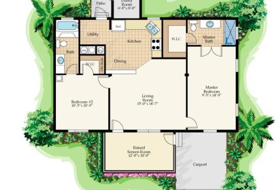 mindi manufactured home rendered floor plan