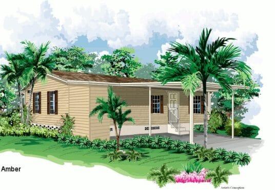 amber manufactured home rendered elevation