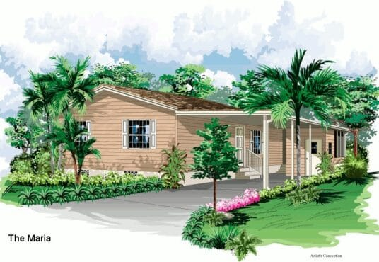 maria manufactured home rendered elevation